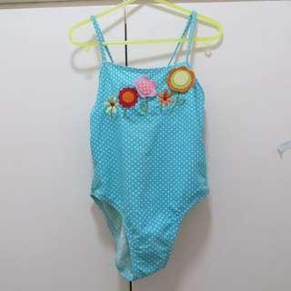 Light blue one piece / swimwear / bathing suit for girls