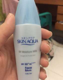 preloved skin aqua sunscreen spf 50 pa++++