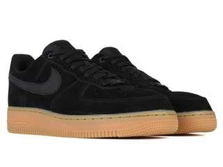 Nike Air Force 1 Black Suede