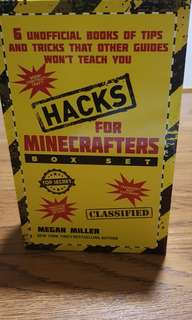 🚚 Hacks for Minecrafters Box Set (6 books of tips n tricks)
