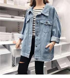 Oversized denim jacket ( include postage delivery)