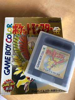 GameBoy Colour - 寵物小精靈(金)日本版