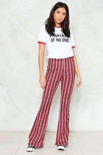 Nasty Gal Striped Flares