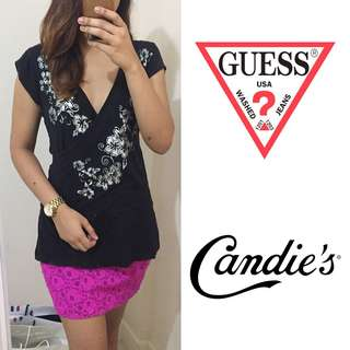 SET: Guess Top and BNWT Candie'S Skirt