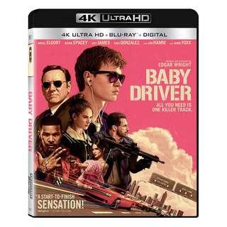 🆕 Baby Driver 4K UHD + Blu Ray