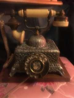 早期合金電話 擺飾