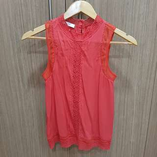 Promod Red Sleeveless Top