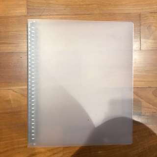 Muji PP Binder Ring File Translucent 30 Hole A4
