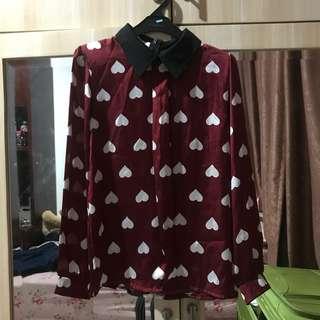 Avenue satin blouse