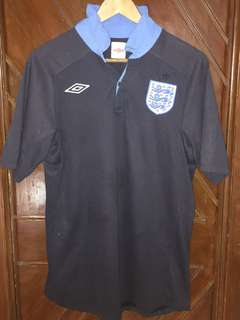 Umbro ENGLAND Black Polo Shirt