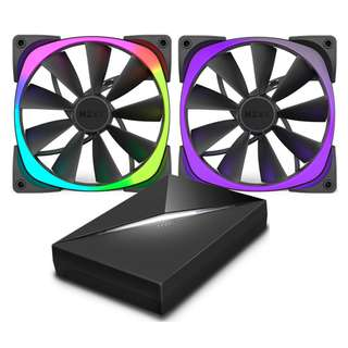 [CLEARANCE PRICE] NZXT Aer RGB Fans with HUE+ Controller Kit