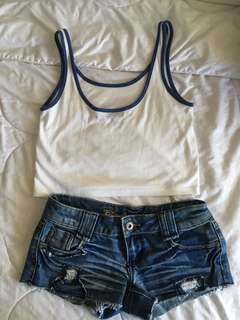 Topshop top and shorts small