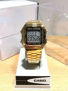 Casio vintage watch 復古跳字金表