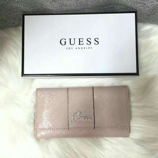 💯 Authentic Guess Glossy Trifold Wallet #July70