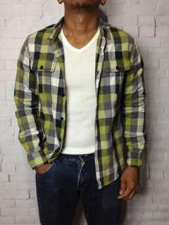 Green checkered flannel