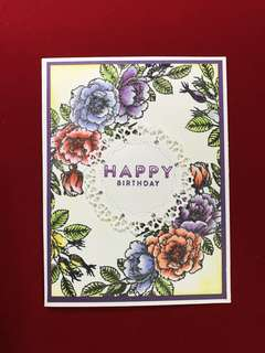 Flowers stamps #21 scrapbook clear stamps