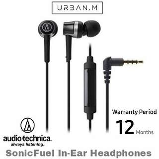 Audio-Technica ATH-CKR30iS SonicFuel In-Ear Headphones with In-Line Mic & Control (Black)