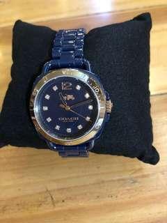 Coach navy watch