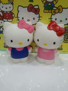 Kitty plastic coin bank set