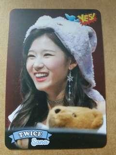Twice Sana Yes card