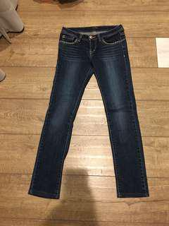 🚚 Et Boite牛仔修身 腰圍平量28吋,褲長:92cm,前擋:18cm