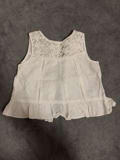 Poney Cotton White Top