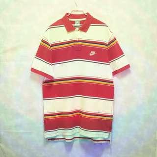 三件7折🎊 Nike polo衫 短袖 紅米拚色 大logo 極稀有 老品 復古 古著 Vintage