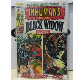 🚚 Amazing Adventures Vol. 2 #1 - The Inhumans and the Black Widow. 1st solo Black Widow