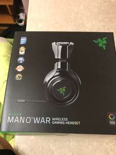 Razer man'o war wireless gaming headset