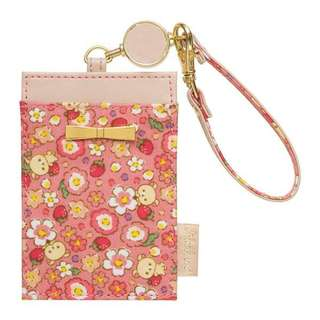 [A1] (2) Last Piece Japan Sax-x Rilakkuma Expandable Reel Pass Case ( Strawberry Flower of Korilakkuma )