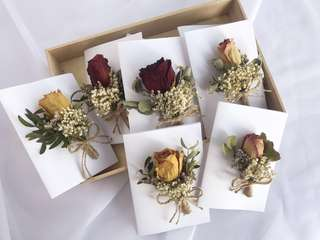 Rose card/Dried flower gift card/ dried rose gift card/ birthday card/ Bouquet card/ thank you card