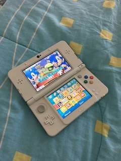 Nintendo 3DS (Used)  Preloaded with Super Mario 3D land 1) Comes with limited edition super mario spare face plate (unused) 2) FoC 1 game: Luigi's mansion 3) FoC charging cable  All yours for RM650