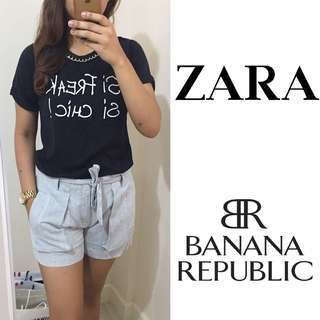 SET: BNWT Zara Top and Banana Republic Shorts