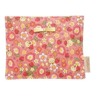 [A1] (2) Last Piece Japan San-x Rilakkuma pocket tissue cover case ( strawberry flower of Korirakkuma )