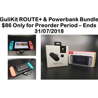 [PREORDER] GuliKit ROUTE+ Wireless USB-C Bluetooth Transmitter and Powerbank Bundle! For Nintendo Switch