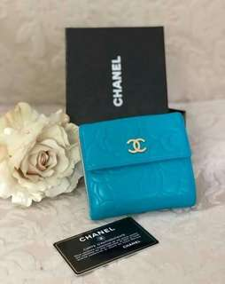 Authentic Chanel Camelia Compact Wallet
