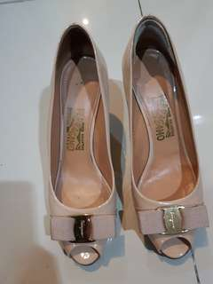 Salvatore Ferragamo authentic nude shoes