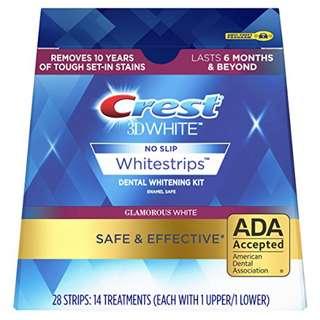 🚚 BNIP: Crest 3D White Glamorous Dental Teeth Whitening Strips Kit, 28 Strips