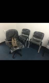 office chair and visitor chair