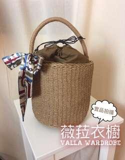 🚚 韓國🇰🇷草編包網紅同款水桶包