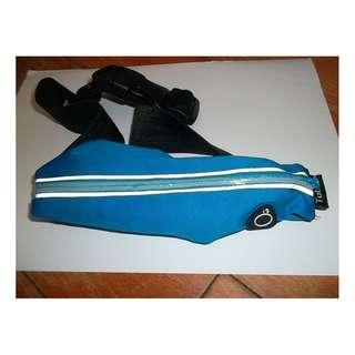 Tuban 運動腰包 戶外夏季跑步手機包貼身多功能防盜隱形小腰帶包 有耳機孔單包款 (黃色)