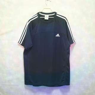 三件7折🎊 Adidas 運動短T 短T 老T 深藍 電繡logo 極稀有 老品 復古 古著 Vintage