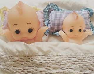 Kewpie 沙律Bb 興業銀行 丘比 19cm 軟膠 公仔 昭和娃娃