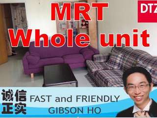 1 bedroom studio Whole unit HDB approved