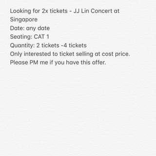 (WTB) JJ Lin Concert