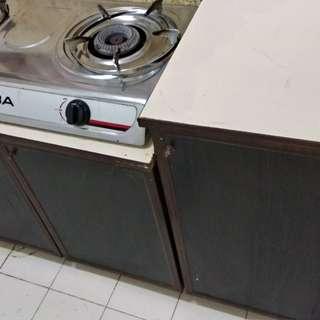 Kabinet Dapur, stove, Tong Gas