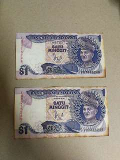 Malaysia old notes (stained)