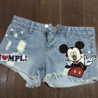 🚚 米奇牛仔短褲