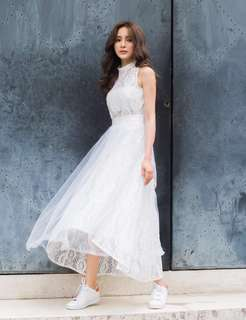 Marjorie 破曉-雙層浪漫不規則長紗裙