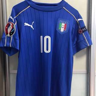 Italy euro 2016 jersey with nameset and badges